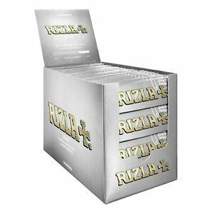 25 50 100 Rizla Silver Regular Standard Cigarette Smoking Rolling Paper
