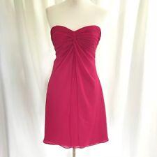 Bill Levkoff Pink Chiffon Cocktail Bridesmaid Short Semi formal Dress 4