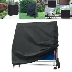 Ping Pong Table Storage Cover Indoor/Outdoor Black Table Tennis Sheet Waterproof