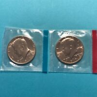 1973 P&D Kennedy Half Dollars Unc in US Mint Cello