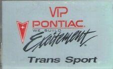 PONTIAC Trans Sport RARE PROMO CASSETTE TAPE