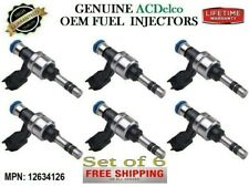 6 Fuel Injectors for 2012-2016 Cadillac SRX 3.6L V6  OEM ACDelco #12634126