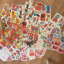 Huge Vtg Valentines Lot 50s 80s 90s Flocked Disney Characters Unused! 200+ Cards