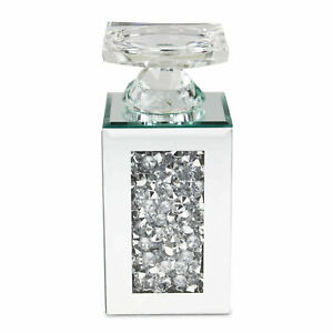 14cm Glass Candle Holder Silver Mirror Home Decoration Tea light Gift Ornament