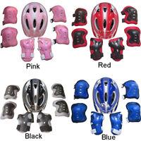 7Pcs//Set Boys/&Girls Kids Skate Cycling Bike Safety Helmet Knee Elbow Pad New