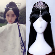 Chinese ancient custom Whole Hair Wig traditional Hairpiece Cosplay Party 100cm