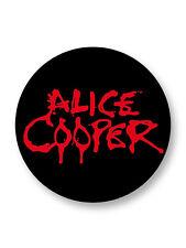 "Pin Button Badge Ø25mm 1"" Alice Cooper Hard Rock USA"