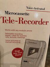 Voice-activated Microcassette Tele-Recorder Radio Shack Trc-300