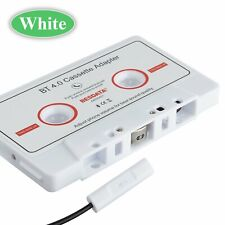 White In Car Audio Bluetooth Cassette Mp3 Music Adapter Aux Jack Tape Converter