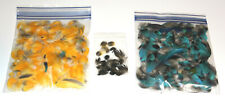 BLUE & GOLD MACAW SET 1 BAG OF BLUE & 1 BAG OF GOLD  FEATHERS  (Naturally Molt)