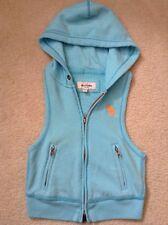VGC! Girls Abercrombie Kids Blue Zip Up Jacket/Vest Hoodie Sz S Cute Style!