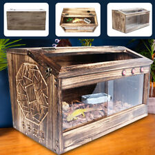 Wooden Reptile Vivarium Terrariums Heating Cage Lizard Turtle Breeding80x40x40cm