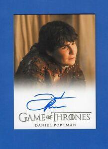 Game Of Thrones Daniel Portman Autograph Card
