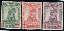 Belgium 1914  Red Cross Fund Merode mint Gibbons 151 to 153