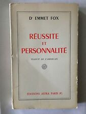 REUSSITE ET PERSONNALITE 1967 EMMET FOX ASTRA