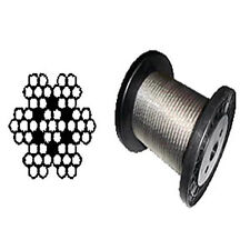 """T-304 Grade 7 x 7 Stainless Steel Cable Wire Rope 1/16""""- 500 ft"""