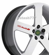 4 - AUDI Decal Sticker Racing Sport  S- Line Wheels Rims emblem logo RED