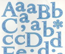 Miss Elizabeth stickers-Blue alphabet.