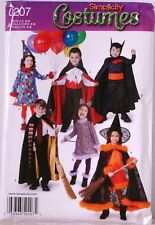 New SIMPLICITY Halloween KIDS Costumes PATTERN 0207 A Sz 3-8 $16