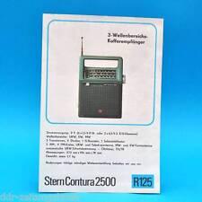 Stella Contura 2500 VALIGIA destinatario 1976 prospetto Pubblicità dewag DDR radio r125 D