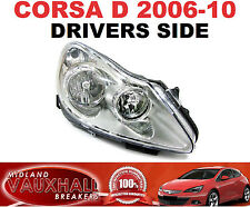 VAUXHALL CORSA D HEADLIGHT HEADLAMP DRIVERS OFF SIDE CHROME DESIGN LIFE CLUB