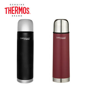 New THERMOS Thermocafe Vacuum Insulated Slimline Flask 500ml Black Red