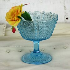 Light Blue Centerpiece Vase  Dish  Art  Depression Glass Art Deco Lovely