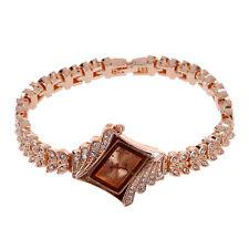 Mother of Pearl Dial Bling Crystal Ladies Bracelet Quartz Wrist Watch SN