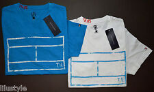 NWT TOMMY HILFIGER men 2-Pack Short Sleeve T-Shirt, S, Small, V-Neck, Blue-White
