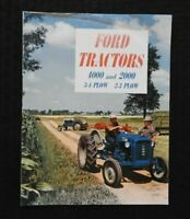 """1962 """"THE NEW FORD 2-3 PLOW 2000 3-4 PLOW 4000 TRACTOR"""" SALES BROCHURE GOOD ONE"""