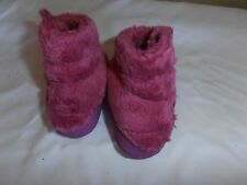 North Face Baby Boots Pink Purple Fuzzy NWOT Winter Socks Shoes Booties NEWBORN