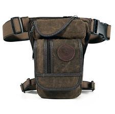 Men Motorcycle Drop Leg Bag Tactical Canvas Hip Pouch Belt Waist Fanny Pack New
