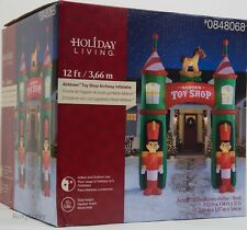 Christmas Gemmy Holiday Living 12 ft Lighted Toy Stop Archway Inflatable NIB