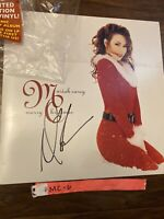 Mariah Carey Signed Autographed Merry Christmas Vinyl LP Record - Proof