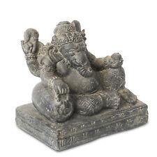 Ganesha Skulptur Hindu Gott ca. 30cm Elefantenkopf Statue Stein Guss