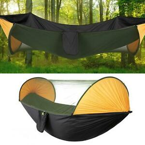 Automatic Quick Opening Camping Tent Hanging Hammock Bed with Mosquito Net Kit