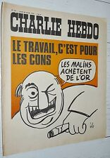 CHARLIE HEBDO N°167 28/01 1974 WOLINSKI CAVANNA CHORON REISER GEBE WILLEM CABU