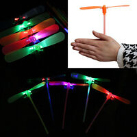 2Pcs LED Flying Dragonfly Helicopter Boomerang Frisbee flash Child Toy Gift AUHO