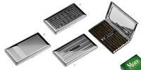 Portasigarette cigarette case metallo sigarette lunghe 120 mm Lubinski N230
