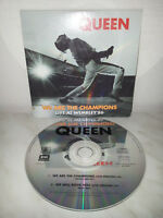 CD QUEEN - WE ARE THE CHAMPIONS - WE WILL ROCK YOU - LIVE AT WEMBLEY