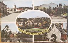 Irish Postcard ENNISKERRY Wicklow Multiview Ireland Valentine Collo Colour 1950s