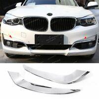 Front Fog Light Strips Eye Lid Trim For BMW 3 Series GT Gran Turismo F34 2013-19