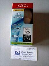 100 WATT SUNBEAM WARM WHITE LED LIGHT BULB