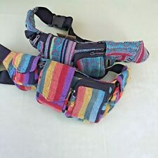 Fair Trade Belt Bum Bag Hand Made Hippy Festival Hippie Travel Pouch From Nepal