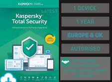 Kaspersky Total Security - 1 PC or Device 1 Year - Genuine EU & UK Fast Email