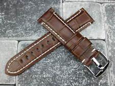 NEW 22mm Alligator Grain Leather Strap Brown Watch Band MONTBLANC 22