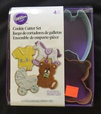 Wilton 4-Piece Baby Themed Metal Cookie Biscuit Craft Pastry Cutter Stencil Set