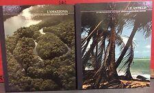 lotto 2 volumi le grandi distese selvagge: Antille - l'Amazzonia. Mondadori