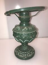 Antike Petroleumlampe um 1900 Metall Guß  Tischleuchte  Jugendstil