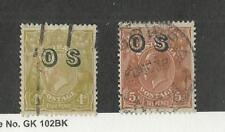 Australia, Postage Stamp, #O4, O10 Used, 1932 Official